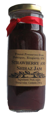 Strawberry Shiraz Jam 250gm