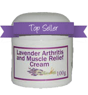 Lavender Arthritis and Muscle Relief Cream - top seller from The Lavender Farm Kingaroy